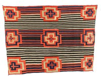 Woman's Chief Blanket (Third Phase style), Diné (Navajo) people, Southwestern Region, Native American, wool with aniline and vegetal dyes