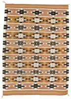 Rug (Wide Ruins style), Diné (Navajo) people, Southwestern Region, Native American, wool with aniline and vegetal dyes