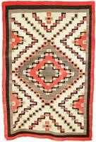 Rug (Crystal style), Diné (Navajo) people, Southwestern Region, Native American, wool