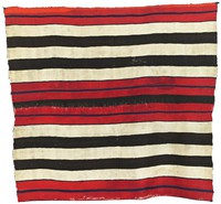 Chief's Blanket (First Phase style), Diné (Navajo) people, Southwestern Region, Native American, wool with cochineal and vegetal dyes