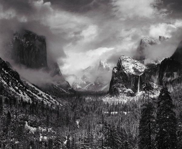 Clearing Winter Storm, Yosemite National Park, California, Ansel Adams, gelatin silver print