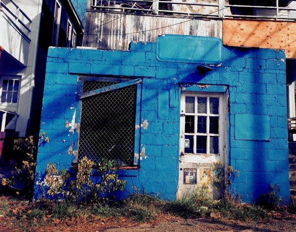 Blue Building, Birmingham, Alabama, William Christenberry, chromogenic print