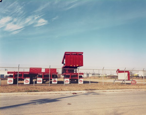 Red Trucks, Birmingham, Alabama, William Christenberry, chromogenic print