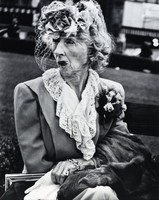 Woman with Veil, San Francisco, Lisette Model, gelatin silver print