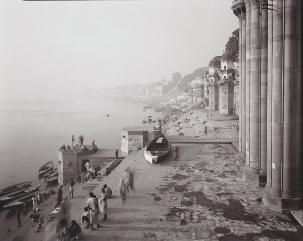 Banaras, India, Linda Connor, contact print on printing-out paper, toned with gold chloride