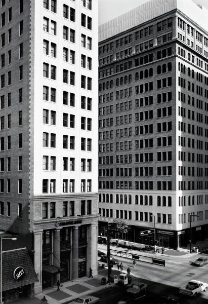 City National Bank Building and Brown-Marx Building, Philip Trager, silver print