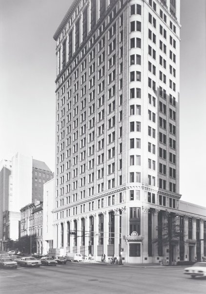 John Hand-First National Bank Building, Philip Trager, silver print