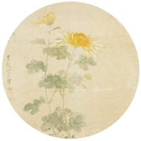 Chrysanthemums, Song Guangbao, ink and color on silk
