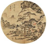 Landscape, Li Kui, ink and color on silk