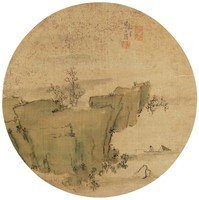 Landscape, Liang Youwei, ink and color on silk