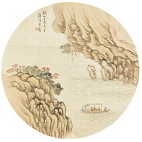 The Red Cliff, Li Kui, ink and color on silk