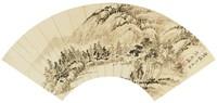 Landscape, Wen Jiqui, ink on paper