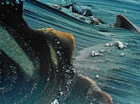 Wind Eroded Volcanic Ash --Kleifarvatn, Eliot Porter, dye-transfer print