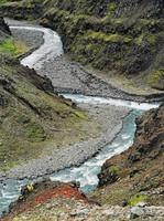 River Canyon Junction -- Öxnadalsheidhi, Eliot Porter, dye-transfer print