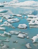 Ice In Glacial Lake --Fjnllsarlon, South Coast, Eliot Porter, dye-transfer print
