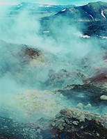Steam Vent -- Landmannalaugar, Eliot Porter, dye-transfer print