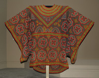 Robe, Bamum people, Republic of Cameroon, Western Grasslands, African, cotton; textile; embroidery thread