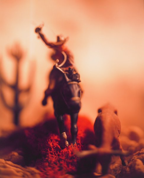 """Untitled, from the series """"Wild West"""", David Levinthal, Polaroid print"""