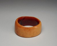 Bracelet, Côte d'Ivoire, African, ivory and red palm oil
