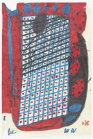 Building and Tree, Willie White, felt marker on paper