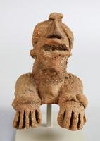 Janus Head and Chest, Koma culture, Ghana, Sisili/Kulpawn River Basin, Northern Ghana, African, fired clay and slip