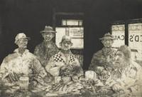 Village Bar, Joel Beckwith, etching