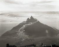 Shadow, Streams, Mt. St. Michel, France, William Clift, gelatin silver print