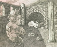 At Ariadne's Place, Robert Fichter, Published by Rolling Stone Press, lithograph