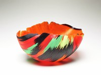 """Fuego del Fuego, Mary Ann """"Toots"""" Zynsky, fused glass cane"""