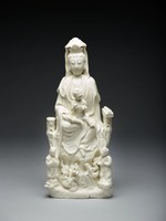 Guanyin Accompanied by Children, China, porcelain, Dehua ware