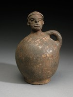 Figurative Vessel, Pende people, African, fired clay and slip
