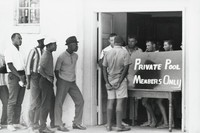"""The Public Swimming Pool Has Been Changed into a """"Private Pool"""" in Order to Remain Segregated, Danny Lyon, gelatin silver print"""