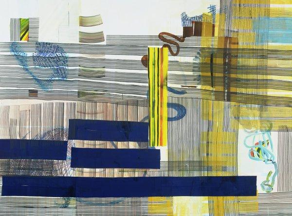Zozobras en el Jardin (Rumors in the Garden), Juan Uslé, vinyl, dispersion and pigment on canvas