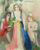 Trois jeune filles (Three Young Girls), Marie Laurencin, oil on canvas