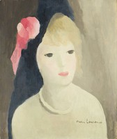 Femme à la rose (Woman with a Pink Rose), Marie Laurencin, oil on canvas