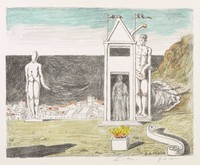 La Sponda Misteriosa, Giorgio de Chirico, lithograph