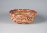 Shallow Bowl with Glyphs, Maya culture, Pre-Columbian, ceramic