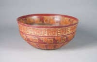 Bowl, Pre-Columbian, fired clay and slip