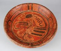 Tripod Plate, Maya culture, Pre-Columbian, fired clay and slip