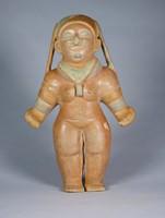 Female Figure, Jama-Coaque culture, Pre-Columbian, fired clay and slip