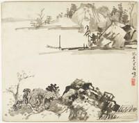 Landscape, Li Yen-shan, ink on paper