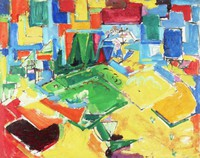 Untitled/Untitled, Hans Hofmann, Recto of frame: oil on masoniteVerso of frame: oil on board/masonite adhered to verso of painting in front of frame