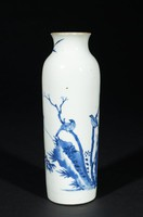 Vase with decoration of birds on branches