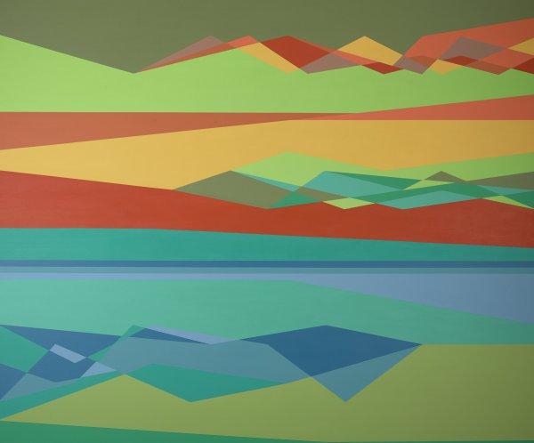Gravity's Rainbow, Odili Donald Odita, acrylic on canvas