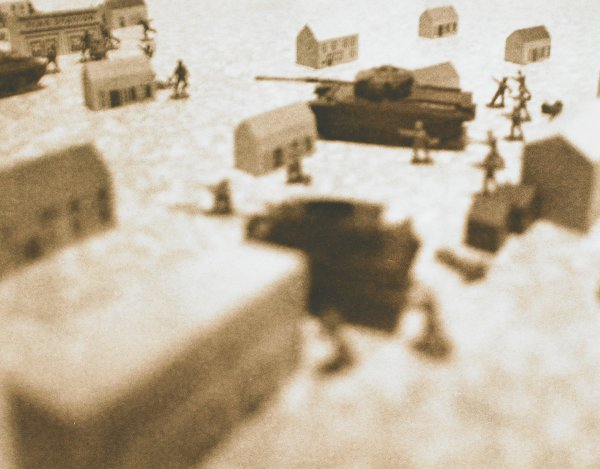 Untitled [before the series Hitler Moves East], David Levinthal, gelatin silver print on Kodalith paper