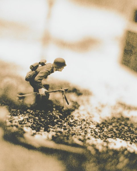 Untitled, from the series Hitler Moves East, David Levinthal, gelatin silver print on Kodalith paper
