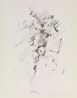 Two Women, Rosemarie Beck, crayon lithograph