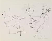 Trio, Rosemarie Beck, lithograph