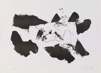 Black and White, James Brooks, lithograph