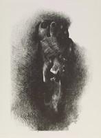 Foot and Faces, Marisol Escobar, crayon lithograph